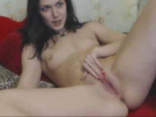 nikispot webcam sex video - Pretty mermaid diligently calmed down flaming pussy with excellent dildo