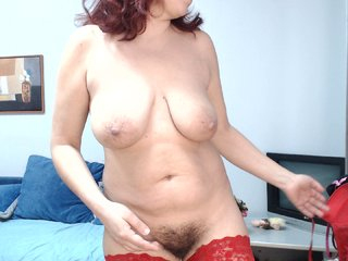 White -bettyfoxy with brown eyes and hairy pussy